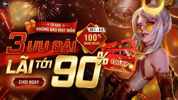 Lên sóng sự kiện Phong Bao May Mắn từ 22/01 đến 04/02 – 3 Ưu Đãi, Lãi Tới 90%
