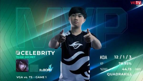 [VCS Mùa Xuân 2020 Tuần 4 Ngày 3] TS 2-0 VGA: Celebrity tỏa sáng, Team Secret chiến thắng thuyết phục trước VGA