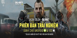 Call of Duty: Mobile VN công bố thời gian ra mắt phiên bản thử nghiệm giới hạn