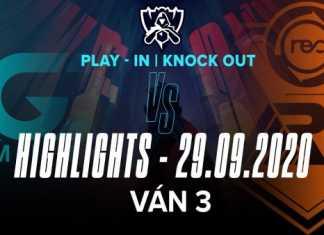 Highlights R7 vs LGD [Ván 3][CKTG 2020][Vòng Khởi Động- Loại Trực Tiếp][29.09.2020]
