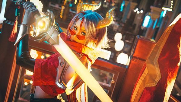 Bộ ảnh cosplay Fiora Niên Thú Nguyên Đán 2021 cực chất