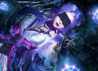 Bộ ảnh cosplay trang phục Syndra Hồng Tàn Phai đầy bí ẩn và quyến rũ