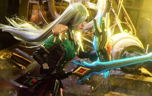 Bộ ảnh cosplay Leona Học Viện Chiến Binh cực ngầu
