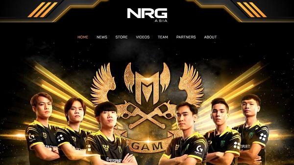 CHÍNH THỨC: GAM Esports gia nhập hệ sinh thái của NRG ASIA